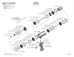 Gage Bilt GB55B Parts List