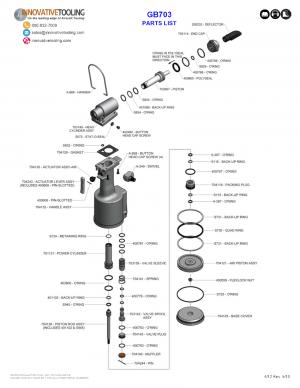 Gage Bilt GB703 Parts List