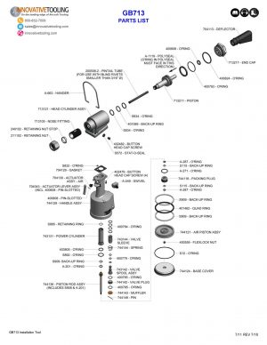 Gage Bilt GB713 Parts List