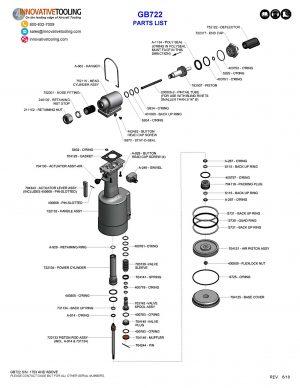 Gage Bilt GB722 Parts List