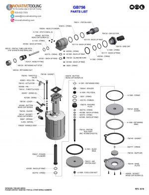 Gage Bilt GB756 Parts List