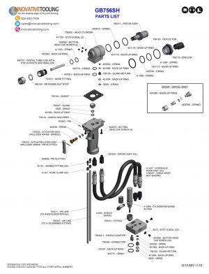 Gage Bilt GB756SH Parts List (1/2)
