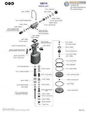Gage Bilt GB715 Parts List