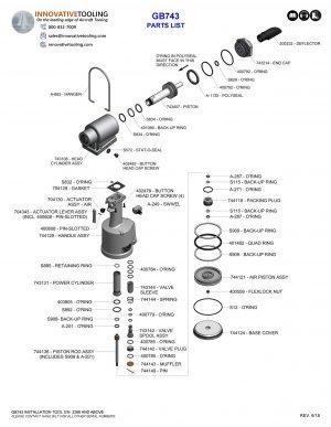 Gage Bilt GB743 Parts List