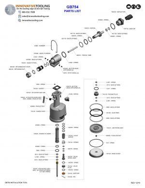 Gage Bilt GB754 Parts List