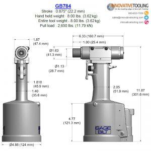 Gage Bilt GB784 Specs