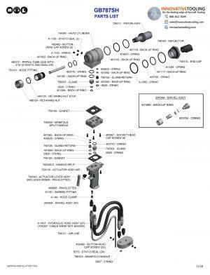 Gage Bilt GB787SH Parts List (1/2)