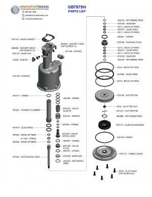 Gage Bilt GB787SH Parts List (2/2)